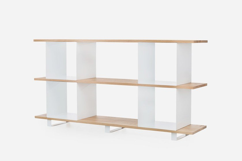 Open oak bookcase 'QUBIK' #2 | Oak bookcase by Galula