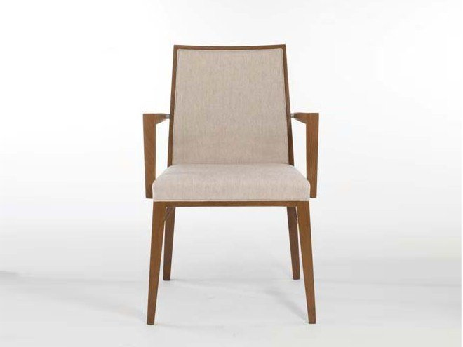 Fabric chair with armrests QUEEN | Chair with armrests - Potocco