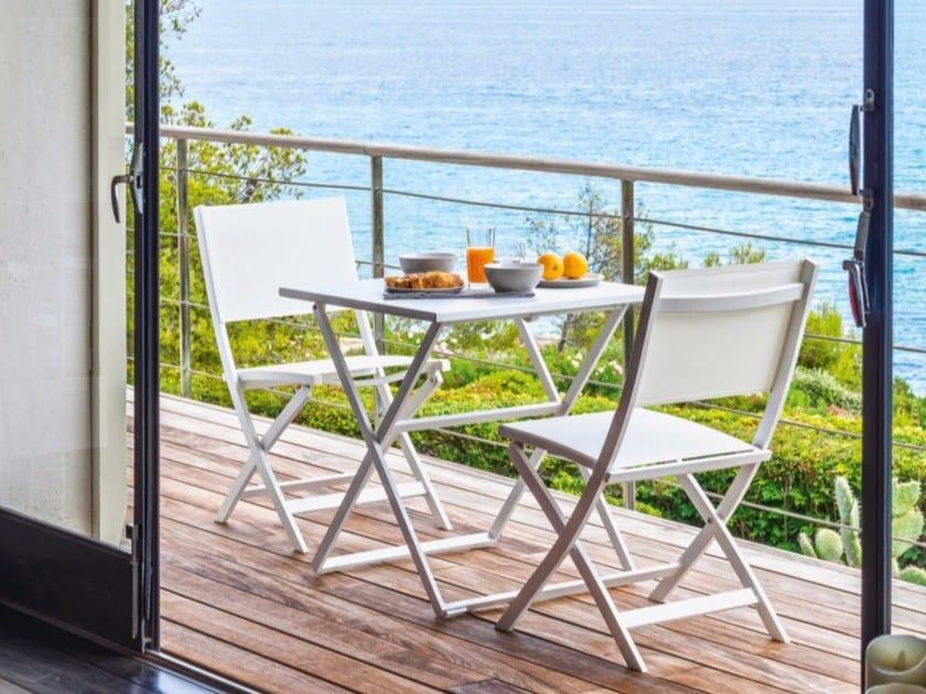 Square aluminium garden table QUEEN | Square table - Talenti