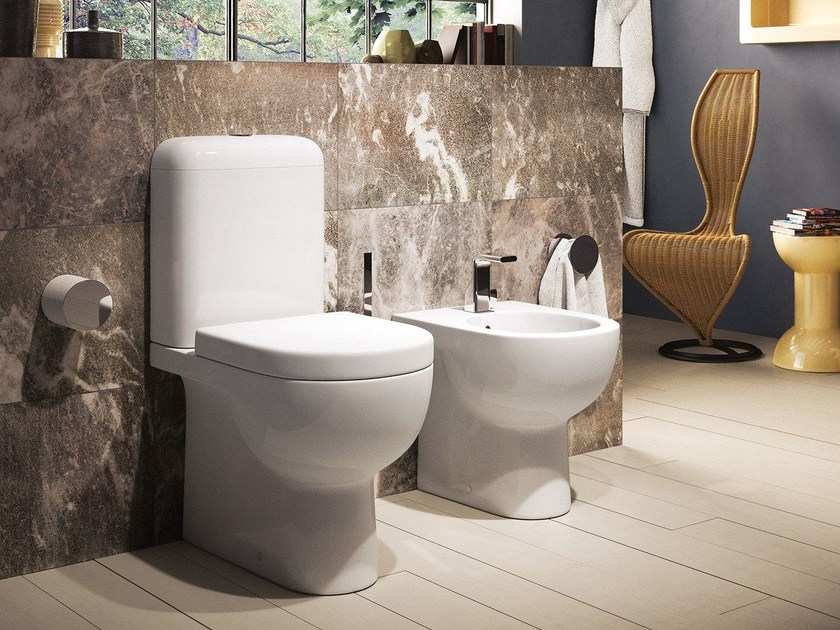 Close coupled ceramic toilet QUICK | Close coupled toilet - CERAMICA FLAMINIA