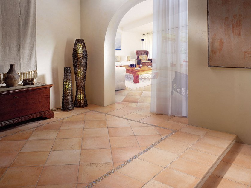 Glazed stoneware flooring with terracotta effect QUINTANA | Flooring - Serenissima