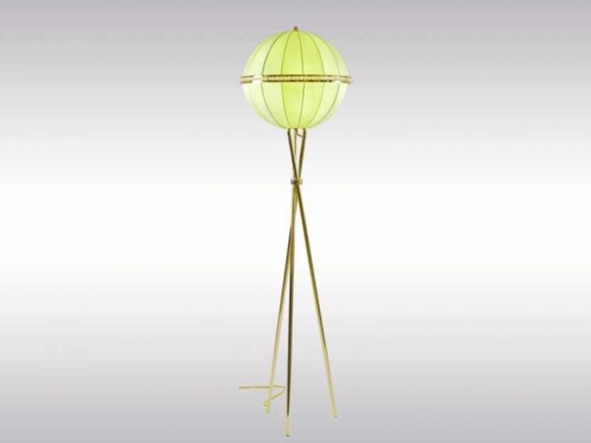 Indirect light fabric floor lamp QUOLUNA - Woka Lamps Vienna