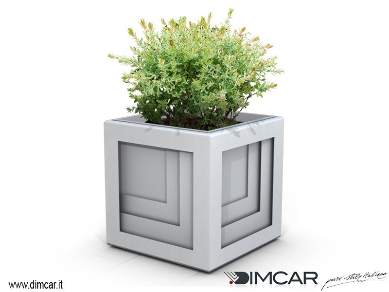 Metal Flower pot Fioriera Quadrio by DIMCAR