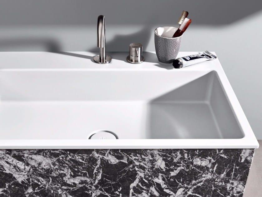 Inset rectangular Corian® washbasin R1 | Inset washbasin by Rexa Design