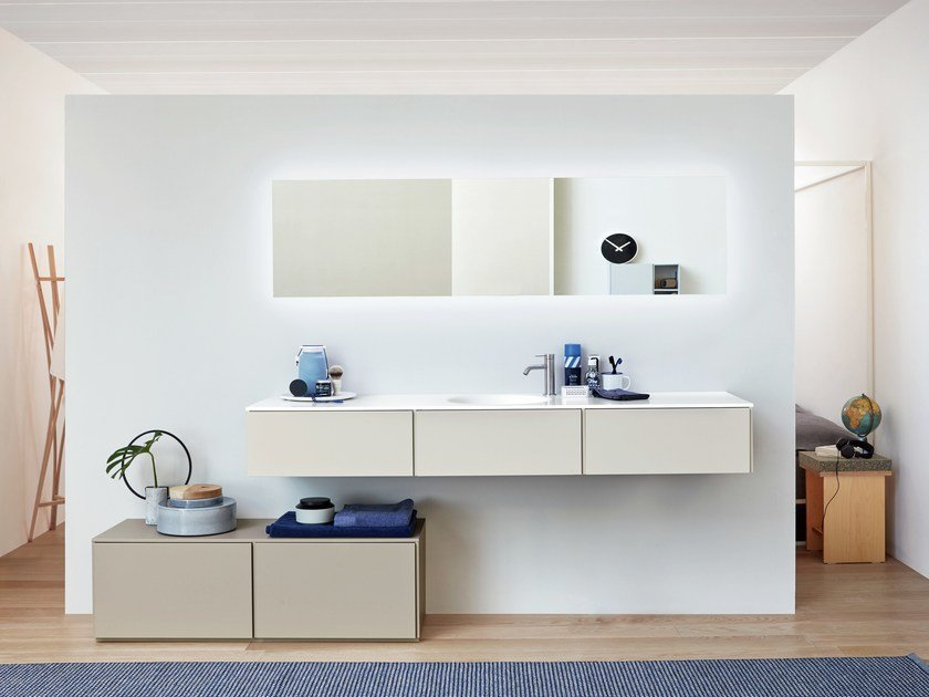 Lacquered vanity unit with drawers R1 | Vanity unit with drawers by Rexa Design