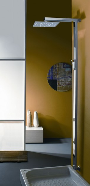 Wall-mounted brass shower panel R2 by tender rain