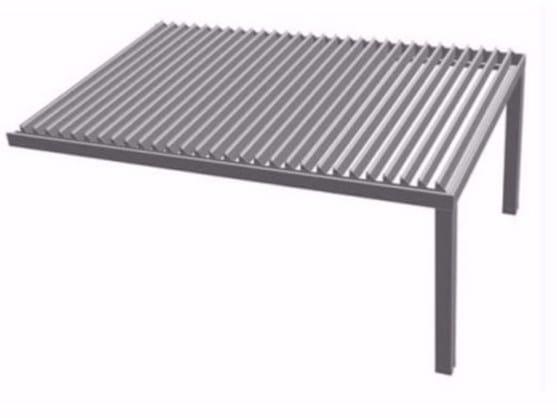 Aluminium pergola with adjustable louvers R610 PERGOKLIMA - BT Group