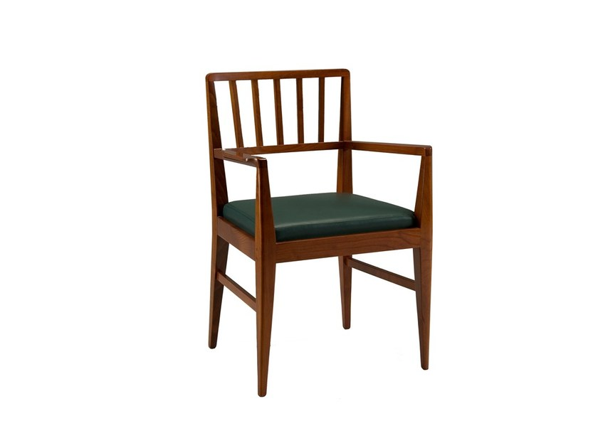 Cherry wood chair with armrests RACHELE | Chair with armrests - Morelato