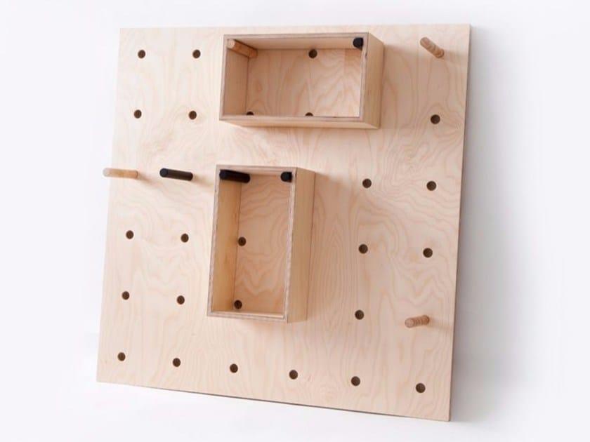 Wooden wall shelf RACK - MALHERBE EDITION