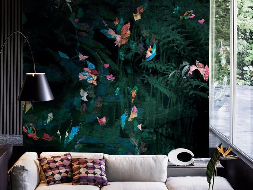 Wallpaper with floral pattern RAFALE - Wall&decò
