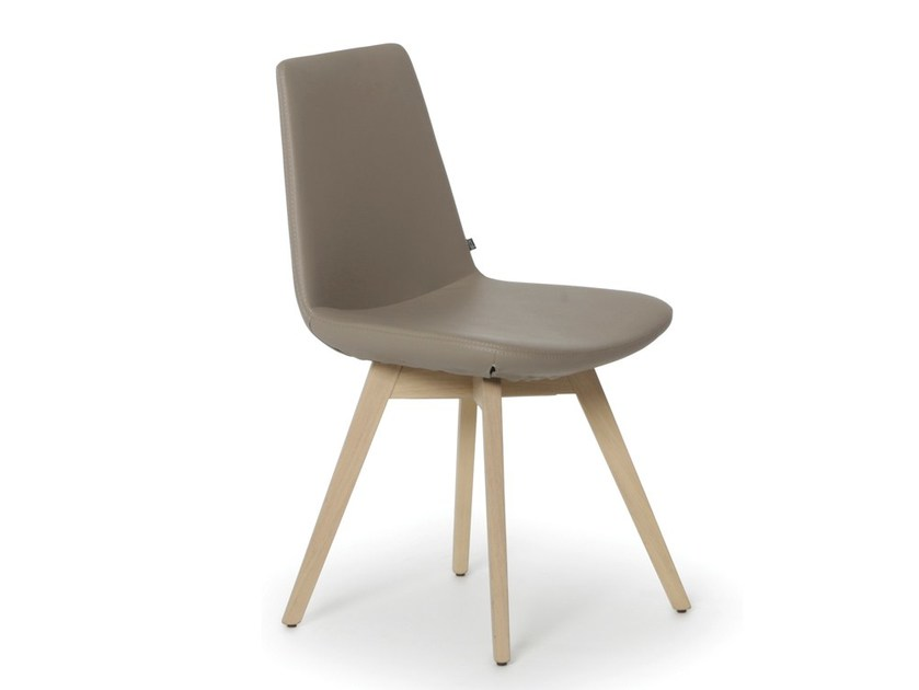 Upholstered imitation leather chair RAFAËL | Chair - Joli