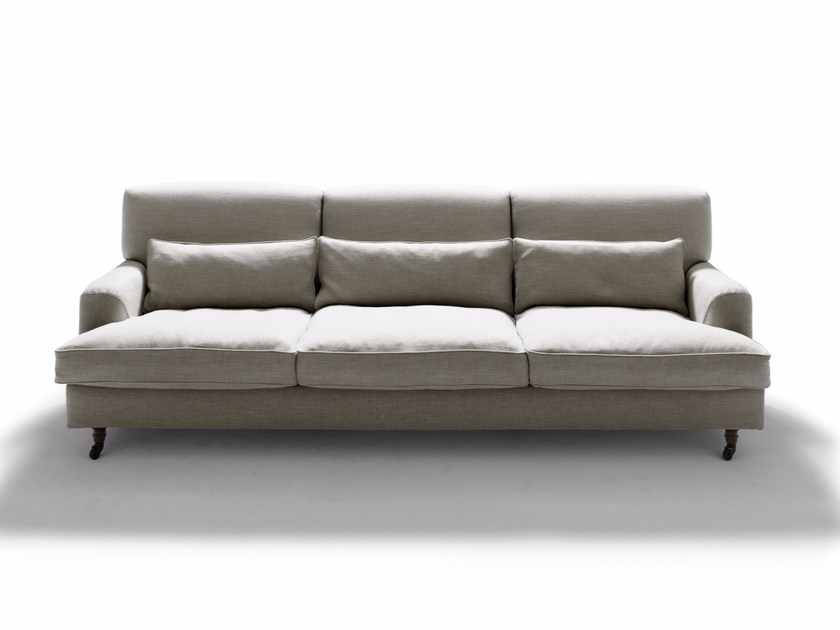 Fabric sofa with removable cover RAFFLES by DE PADOVA