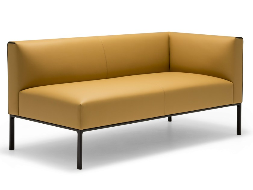 Sectional modular leather sofa RAGLAN | Modular sofa - Andreu World