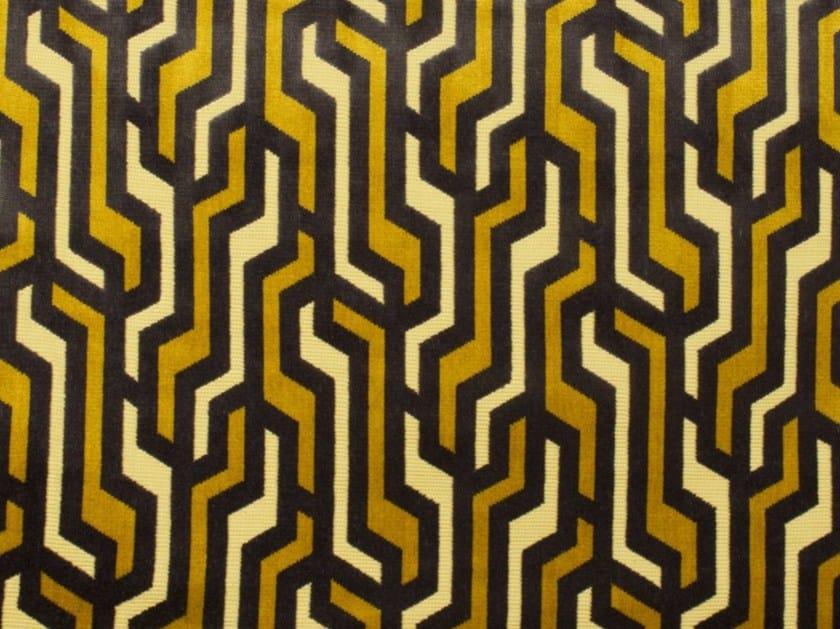 Tessuto in velluto con motivi grafici RAILS by Gancedo