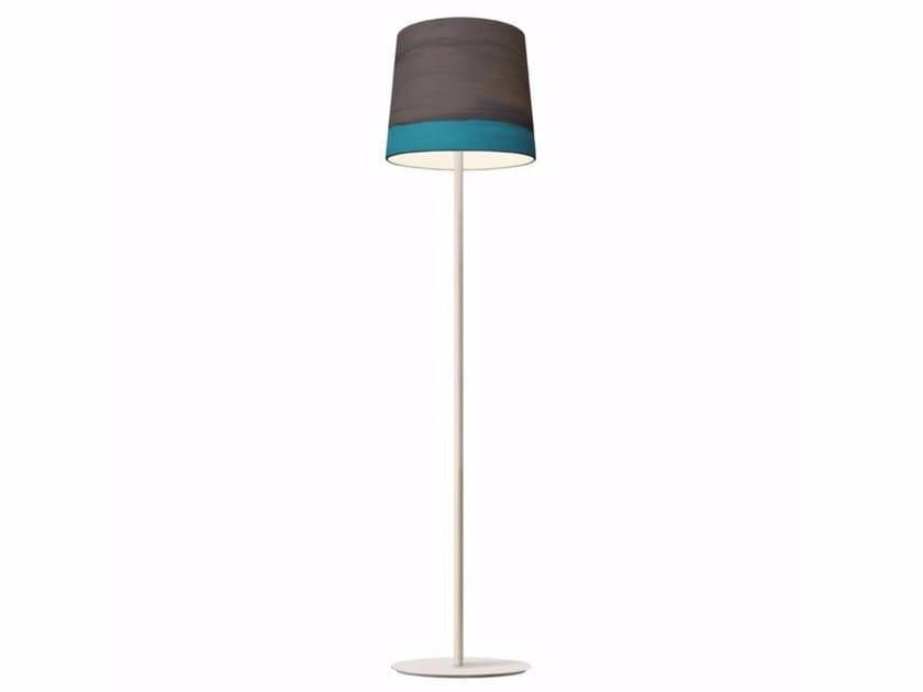 Handmade fabric floor lamp RAIN | Floor lamp by Mammalampa