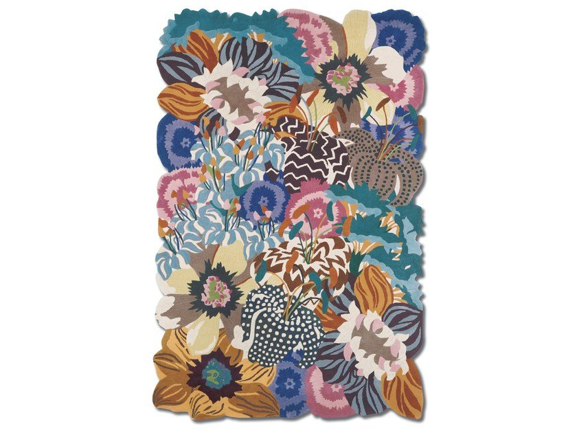 Rectangular wool rug with floral pattern RAJMAHAL | Rectangular rug by MissoniHome