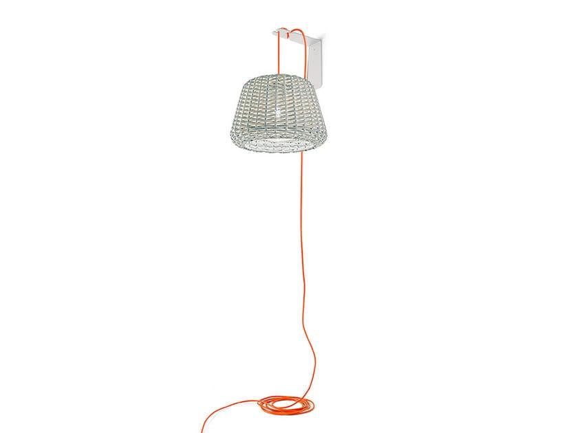 Direct light rattan wall lamp RALPH | Wall lamp - PANZERI