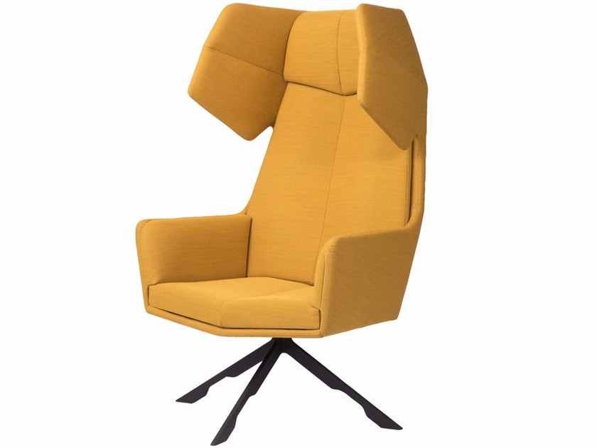 High-back fabric armchair RAMA by Palau