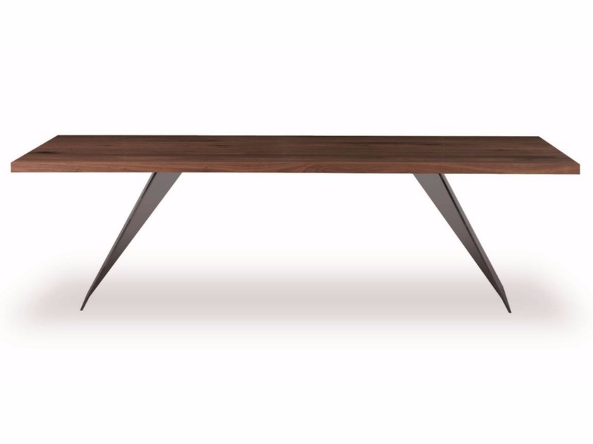 Rectangular solid wood table RANDOM by Riva 1920