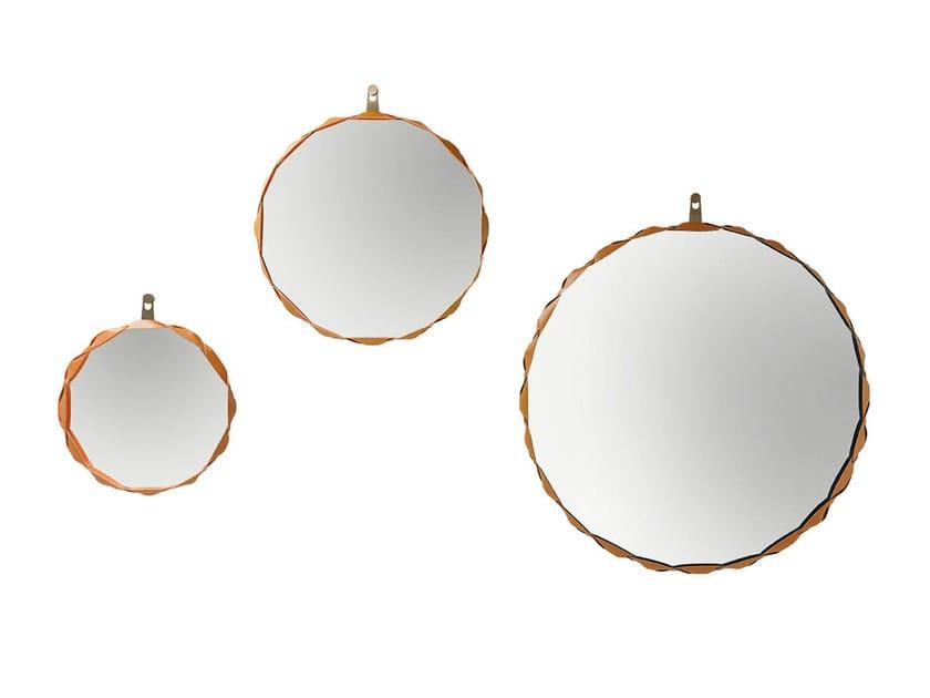 Round wall-mounted framed mirror RAPERONZOLO - Zanotta