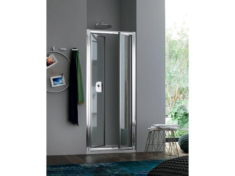 Box doccia a nicchia in vetro con porte a battente RAPID - 5 - INDA®