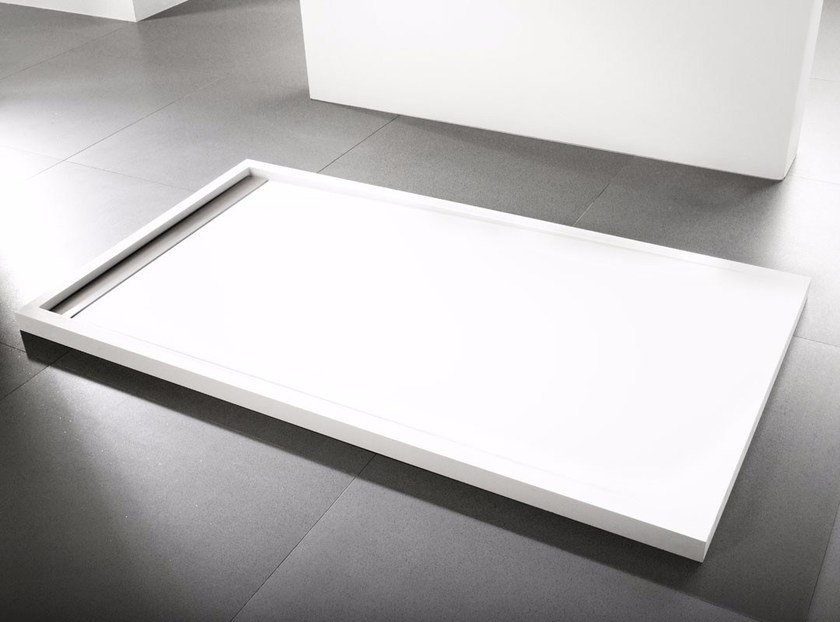Contemporary style rectangular Krion® shower tray RAS | Shower tray - Systempool