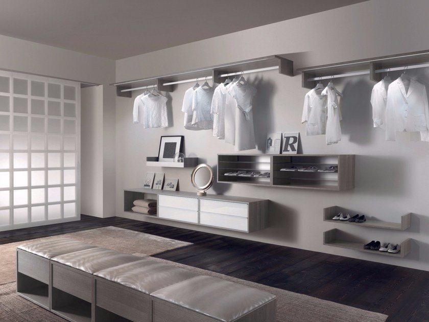 Sectional walk-in wardrobe RAY - RES