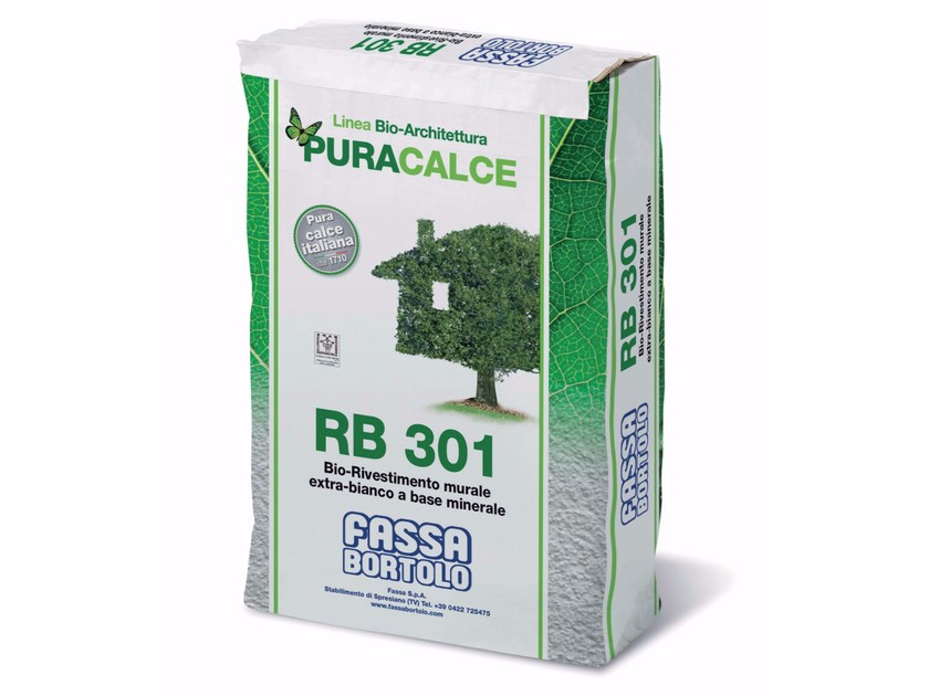 Natural plaster for sustainable building RB 301 by FASSA
