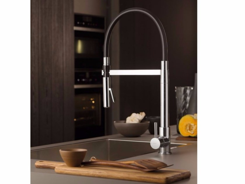 Countertop kitchen mixer tap with swivel spout REAL | Countertop kitchen mixer tap - NEWFORM