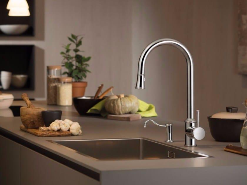 Miscelatore da cucina da piano con doccetta estraibile REAL | Miscelatore da cucina con doccetta estraibile by newform