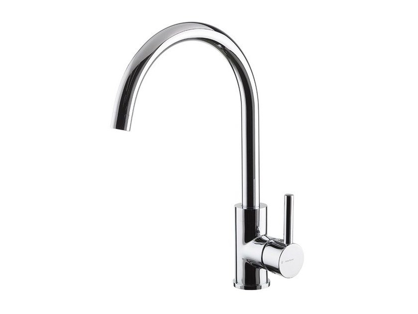 1 hole kitchen mixer tap with swivel spout REAL | Kitchen mixer tap with swivel spout by newform