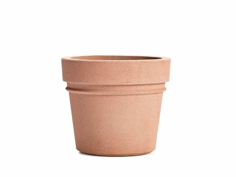 Round fiber cement Flower pot REALE by VESTRE