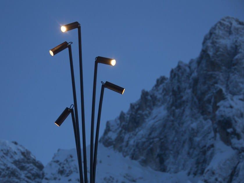 LED galvanized steel garden lamp post REANUZZA - Brillamenti by Hi Project