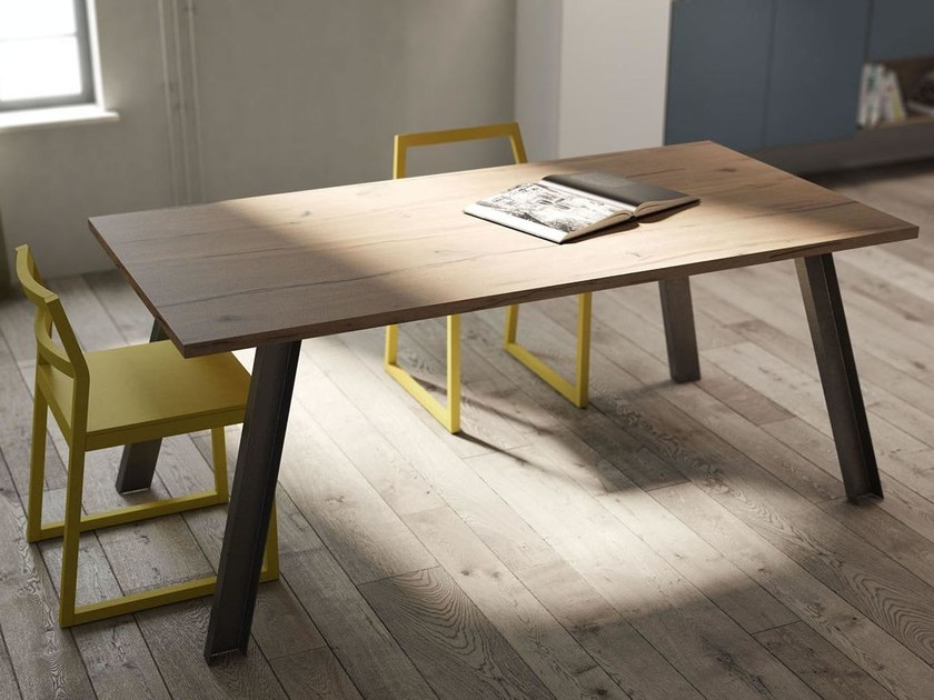 Extending English oak table REBEL SYSTEM | Table by Fimar