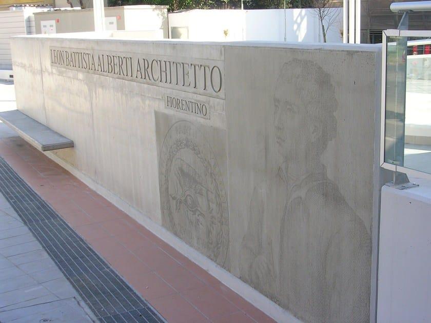 Matrix for fair faced concrete wall RECKLI® PHOTO-ENGRAVING by COPLAN