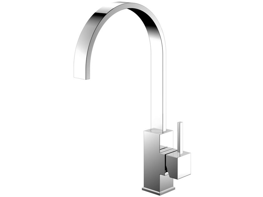 Countertop stainless steel kitchen mixer tap REFLECTED RE-110 by Nivito