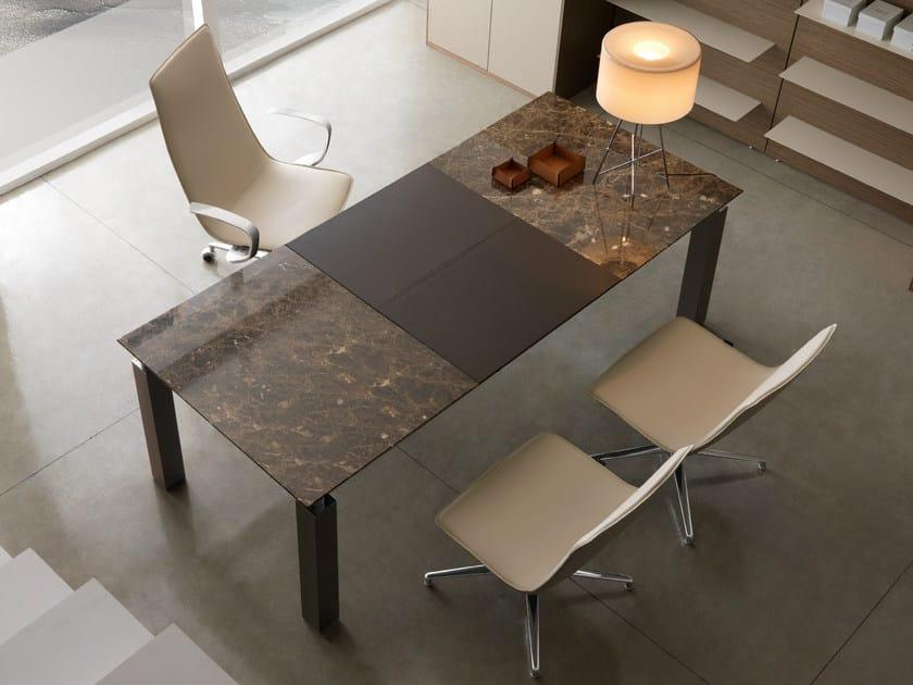 Rectangular walnut workstation desk REGAL | Executive desk - Quinti Sedute