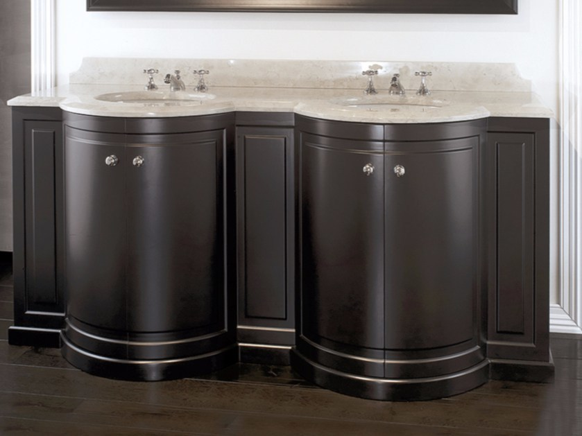 Double wooden vanity unit REGENT - Devon&Devon