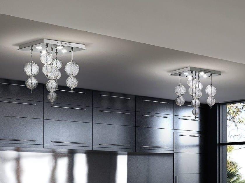 Blown glass ceiling lamp REGOLO   Ceiling lamp - Zafferano