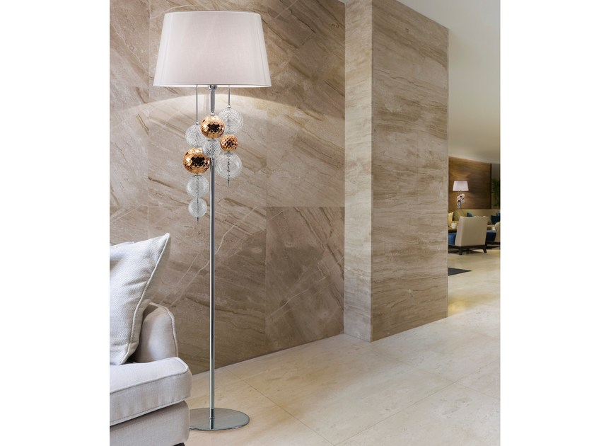 Blown glass floor lamp REGOLO | Floor lamp - Zafferano