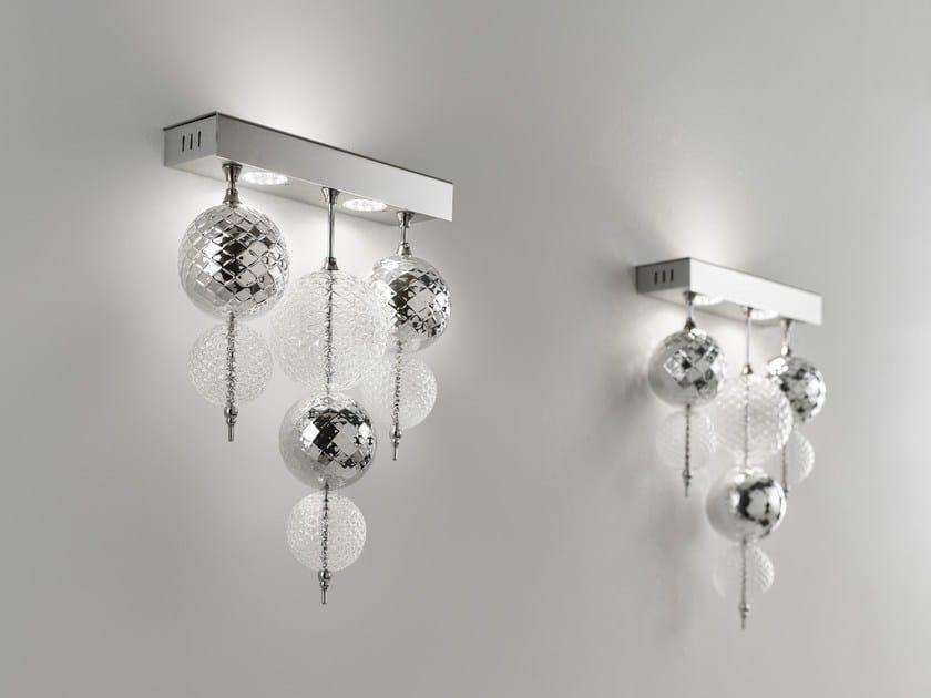 Blown glass wall lamp REGOLO | Wall lamp - Zafferano