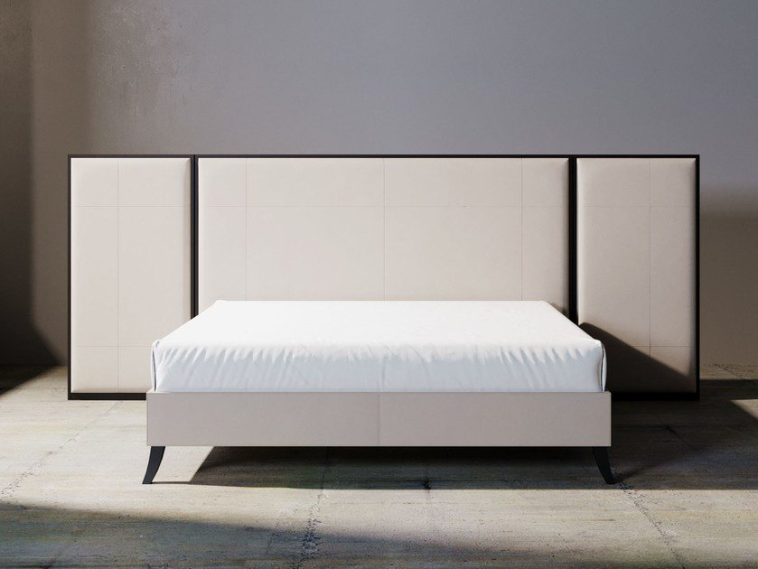 Fabric double bed with upholstered headboard RELIEF | Bed by ITALIANELEMENTS