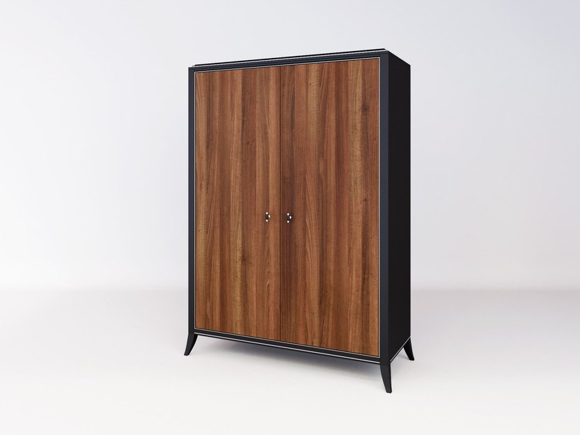 Wooden wardrobe with drawers RELIEF | Wardrobe by ITALIANELEMENTS