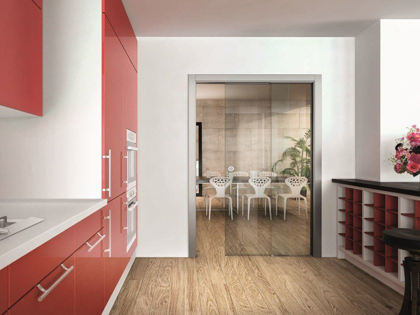 Counter frame for parallel sliding doors REMIX by SCRIGNO