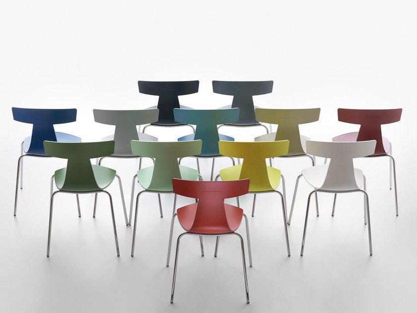 Stackable polypropylene chair REMO PLASTIC - Plank