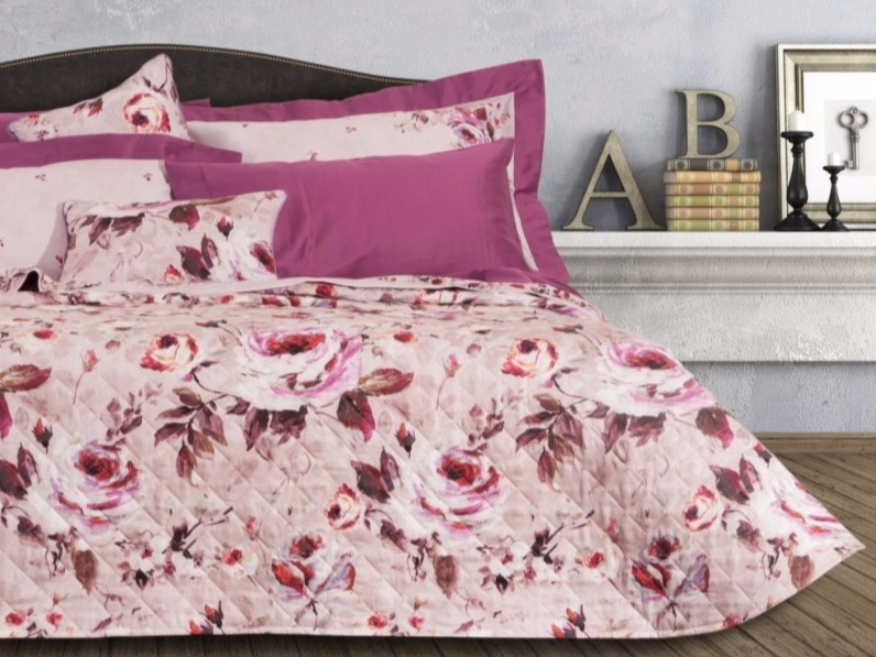 Printed quilt with floral pattern RENÈ | Quilt with floral pattern - Via Roma 60 by Gruppo Carillo