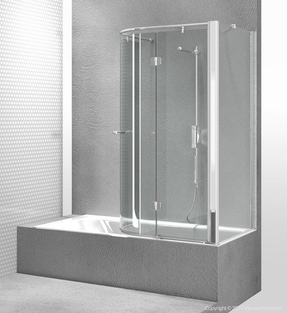 Tempered glass bathtub wall panel REPLAY SR+SE - VISMARAVETRO