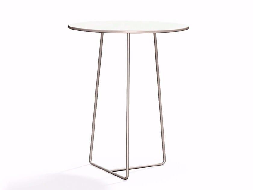 Round steel garden side table RESÖ | Garden side table - Skargaarden