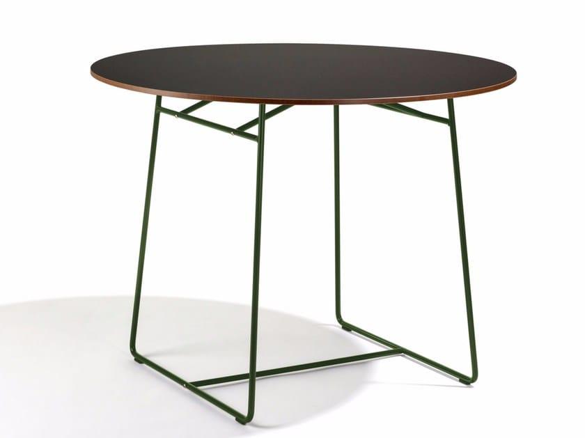 Round steel garden table RESÖ | Garden table - Skargaarden