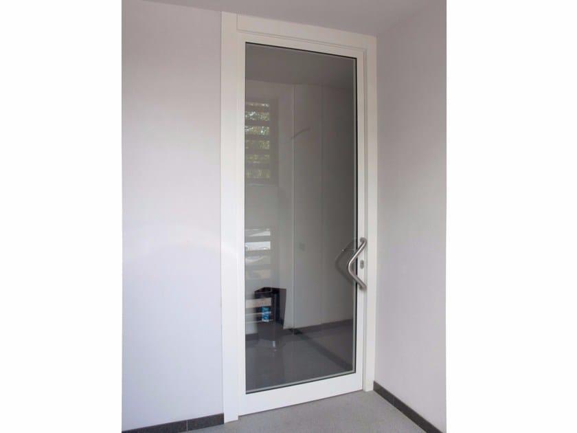 Porta d 39 ingresso acustica blindata in acciaio e vetro - Porta ingresso blindata ...
